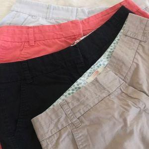 J. Crew shorts, size 4, 4 pair